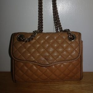 Rebecca Minkoff Tan Quilted Leather Handbag